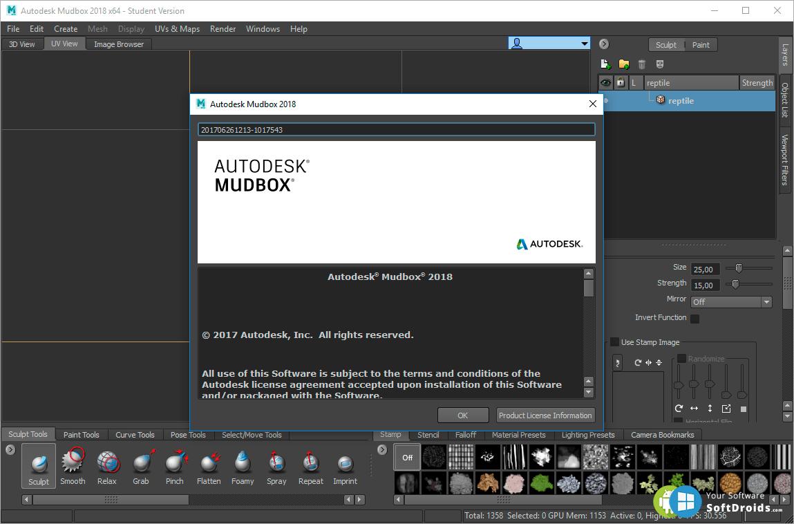 Mudbox v2018 - скачать Mudbox на Windows